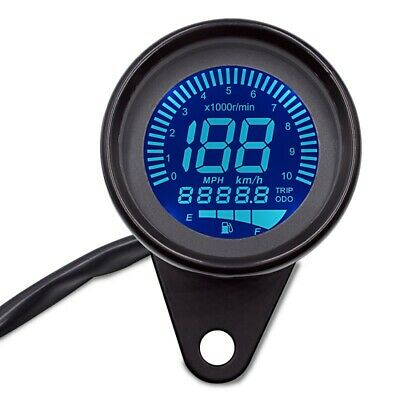 MOTORCYCLE TACHOMETER SPEEDOMETER LCD DIGITAL REV COUNTER ZADDOX TXR