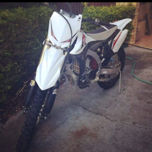 2013 yz 450 f, limited edition white, 51 hours