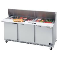 BEVERAGE AIR PREP FRIDGE / THREE COMPARTMENT UNIT