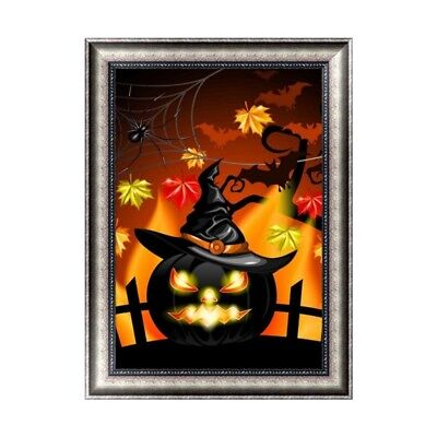 Halloween Home Crafts (Halloween 5D Diamond Painting DIY Embroidery Cross Stitch Home Decor Crafts)