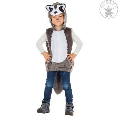 RUB 12342 Waschbär Kinder Kostüm Karneval Bär Fellkostüm Kinderkostüm