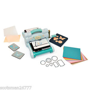 SIZZIX BIG SHOT DIE CUTTING MACHINE STARTER KIT PADS BIGZ SIZZLITS FRAMELITS