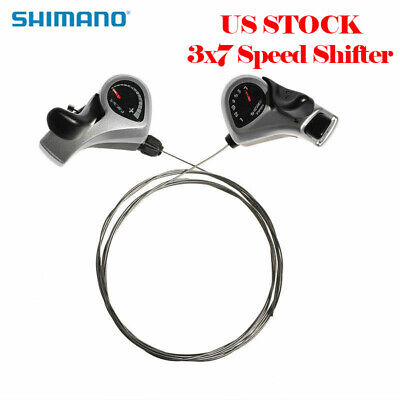 SHIMANO Bike 3x7 Speed Shift Index Thumb Bicycle Shifters Levers Tourney TX50 US Trigger Shift Levers