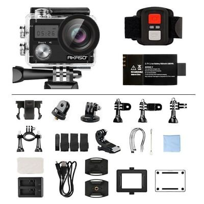 AKASO Brave 4 Ultra HD 4K Sports Action Camera Camcorder WiFi 20MP + Remote for sale  Shipping to Nigeria