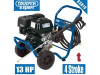 DRAPER EXPERT 83819 13HP PETROL PRESSURE WASHER 4 STROKE BRASS PUMP PETROL POWER WASH