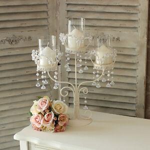 vintage ivory cream wedding candle holder chandelier focal table decoration