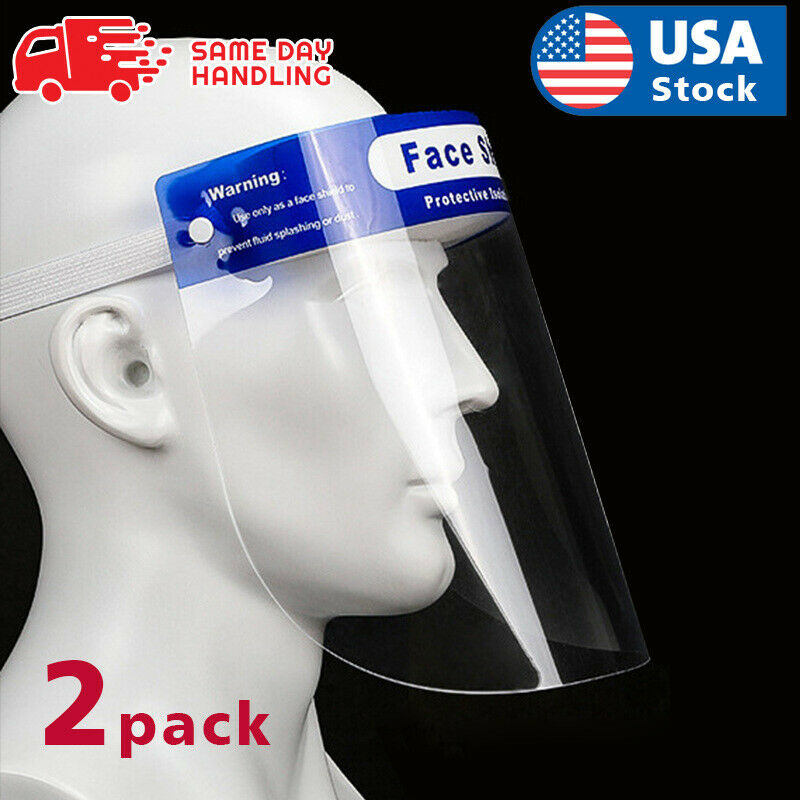 2PACK Safety Full Face Shield Reusable Washable Protection Cover Face Mask  US Clothing, Shoes & Accessories