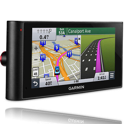 """Garmin nuviCam LMTHD 6"""" GPS System w/ Built-in Dashcam, Maps & HD Traffic"""