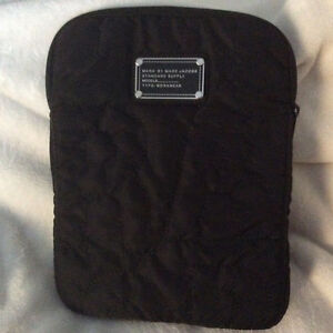 "Designer Tablet Cover- ""Marc Jacob"" Black Satin - Mint!"