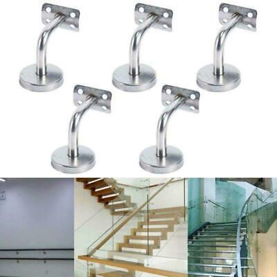 5Pcs Stainless Steel Wall Mount Stair Handrail Brackets for Wood/Metal Railing - Metal Handrail Brackets