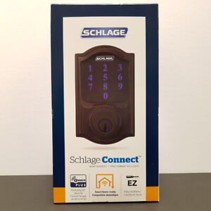 Schlage Connect Z Wave+ Touch Smart Deadbolt - NEW