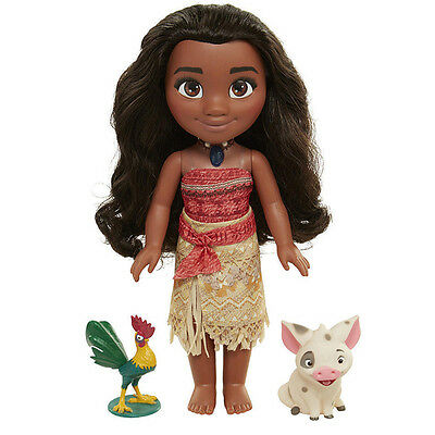 Singing Moana Friend Action Figure Doll Light Song Kids Toy Collection No Box