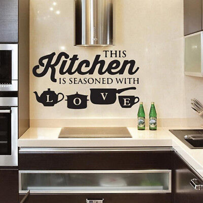 Wall Sticker Vinyl Decal for Kitchen Bedroom Home Decoration Detachable HS1 for sale  Shipping to Canada