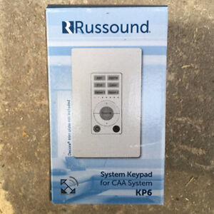 NEW Russound KP6 Keypad WHITE for CAA Controller***4 AVAILABLE