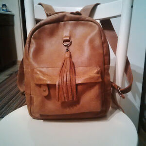 Roots Backpack - African Vintage Tribal Leather, lined