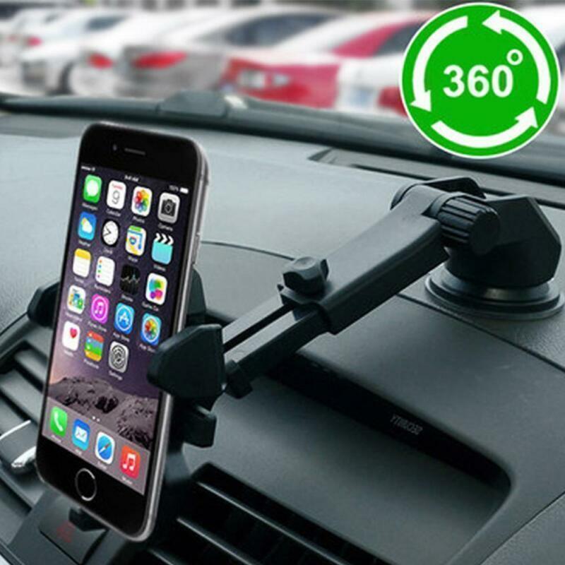 "360° Universal KFZ Halterung Smartphone Handy Auto LKW PKW Halter drehbar 6"" DE"