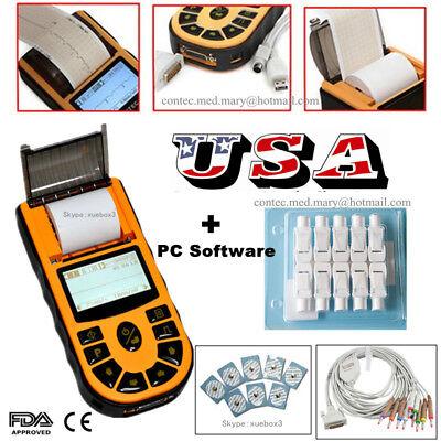 Contec Ecg80a Portable Hand-held One1 Channel Ecg Ekg Machine Pc Softwareusa