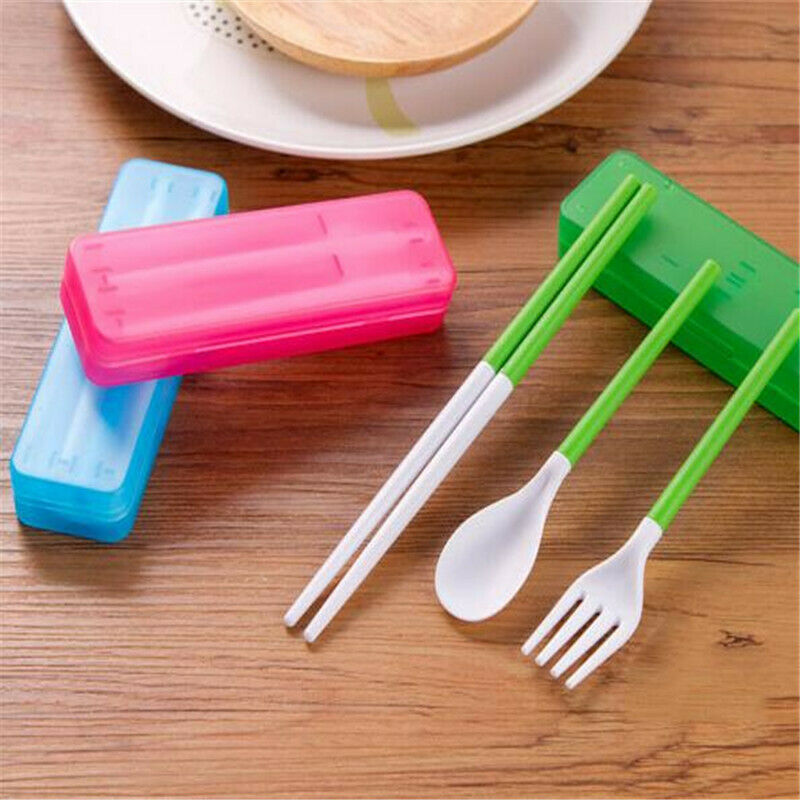 Portable Stainless Steel Cutlery Spoon Fork Outdoor Travel Supplies FI