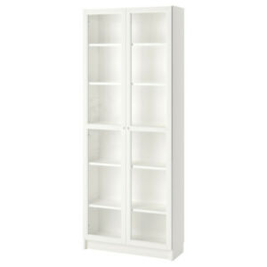 Ikea Shelving with Glass Doors