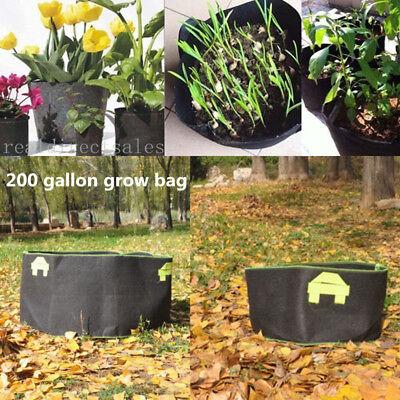 5 Pcs 200 Gallon Fabric Planter Pots Grow Bags Smart Dirt Plant W 4 Nylon Handle