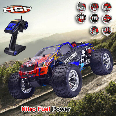 HSP 94188 4WD 1/10 off-road Monster Truck Nitro Fuel Gas Powered RTR RC Car GO#