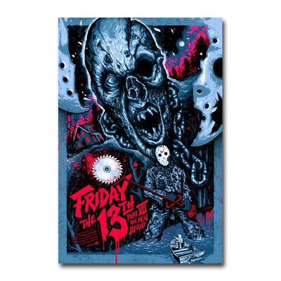 Friday the 13th Horror Movie Art Canvas Silk Poster Wall Art Print 24x36 inch