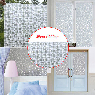 Grid Frosted Glass Film Static Cling Office Bedroom Bathroom Home Window Decor](Office Window Decorations)