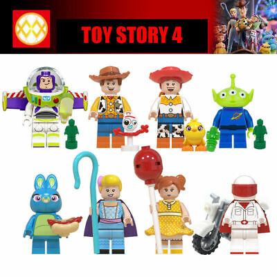8Pcs Disney Toy Story 4 minifigures Forky Buzz Lightyear Woody Jessie Figures