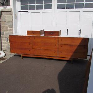Mobilier set de chambre commode bois teck scandinave vintage 4mx