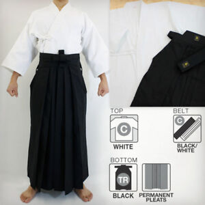 Kenjutsu hakama, AIkido, Kendo, Karate uniforms with shinai