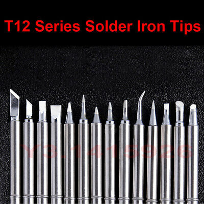 T12 Series Solder Iron Tips For Hakko 912 Fx-9501 Fm-2028 Fx-951 Solder Handle