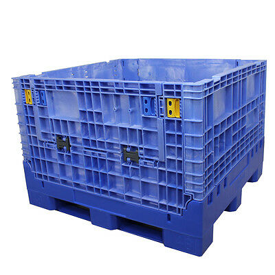 Duragreen 45 X 48 X 34 Blue Collapsible Bulk Container 2 Doors