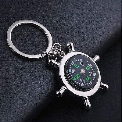 New Unisex Fashion Compass Metal Car Keyring Keychain Key Chain Ring Keyfob