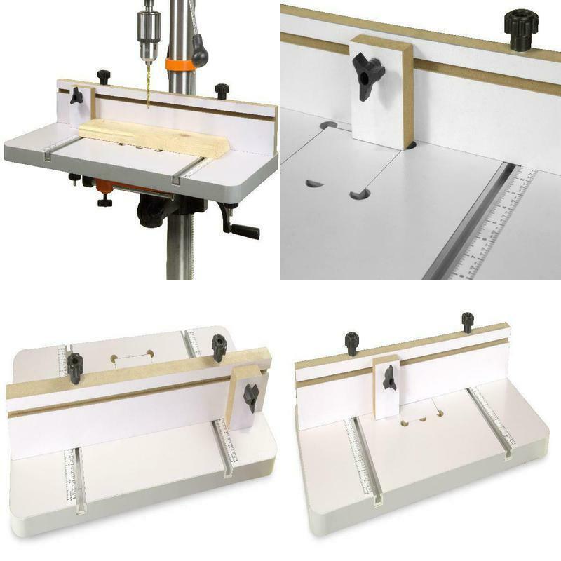 "Drill Press Table 24"" x 12"" Drill Press Table Adjustable Fen"