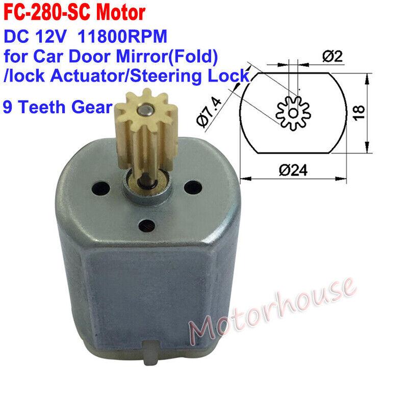 FC-280SC DC 12V Mini 24mm Car Door Lock Actuator Mirror Rearview Repair Motor