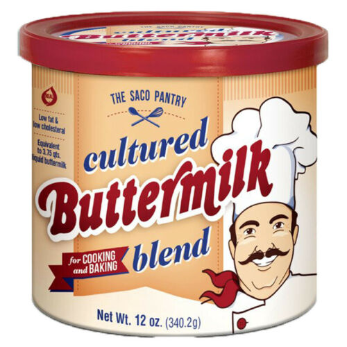 Saco Cultured Buttermilk for Cooking and Baking Powdered Gluten Free Kosher 12oz