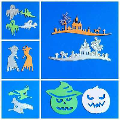 Halloween Pumpkin Castle Metal Cutting Dies Stencil DIY Scrapbooking Card Craft (Halloween Pumpkin Carving Stencils)