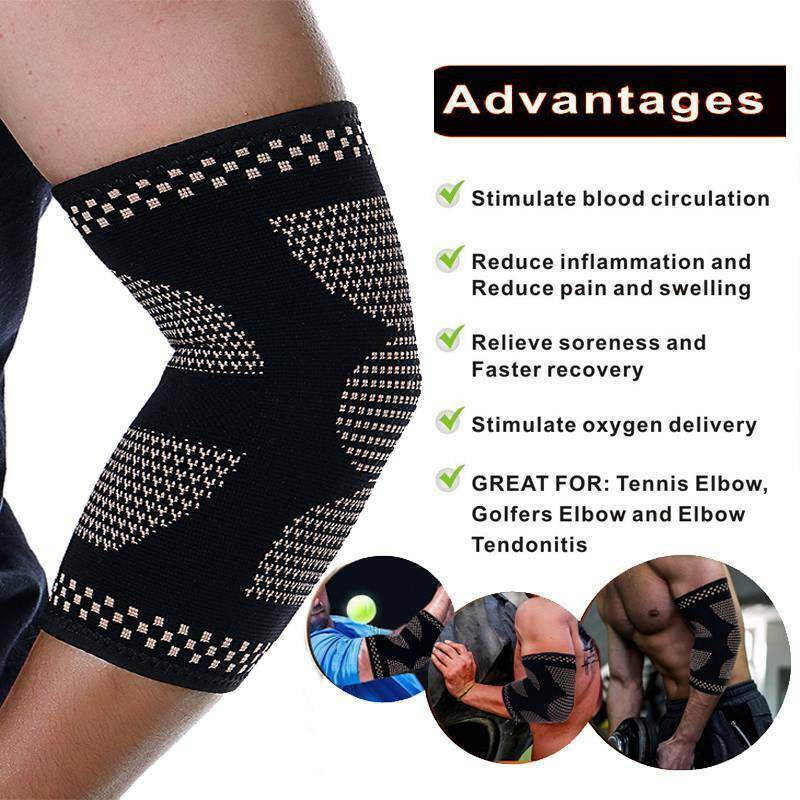 Copper Elbow Brace Compression Support Pain