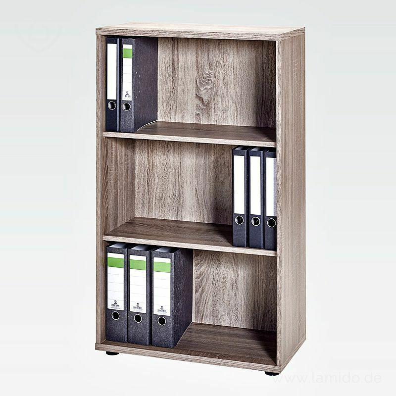 Büro Aktenregal m.Schiebetür weiß basalto120cm Bücherregal ...