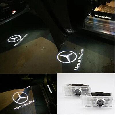 2X LED Logo door courtesy projector light For Mercedes Benz W203 C Class SLK CLK