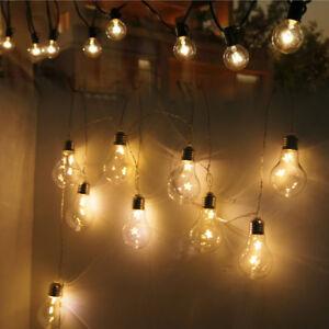 Outdoor Garden 20 LED Globe Vintage Festoon Bulb Ball Hanging Fairy String Light