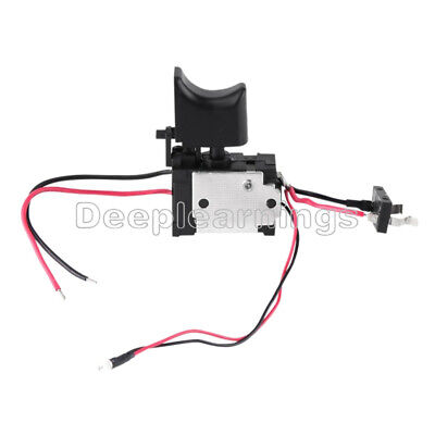 Electric Cordless Drill Trigger Switch 16a 7.2v-24v Push Button Small Light