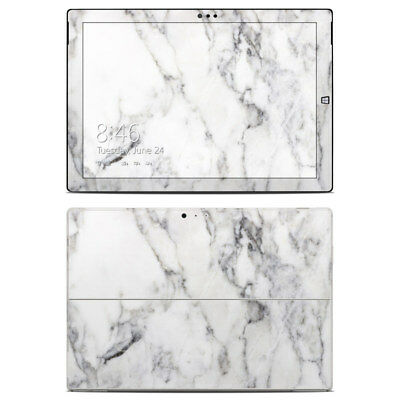 Surface Pro 3 Skin - White Marble - Sticker Decal