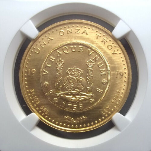 CHILE - ONZA - 1979 - NGC MS67 - MINTAGE 1,580 - G1OZ - GOLD .999 - KM X-2