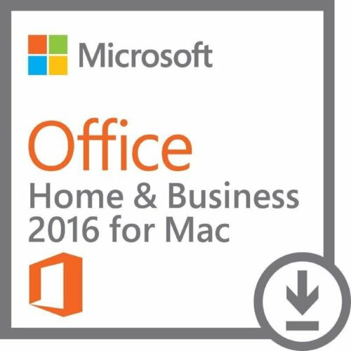 MS Office 2016 Home and Business 32/64 Bit For Mac - Genuine License