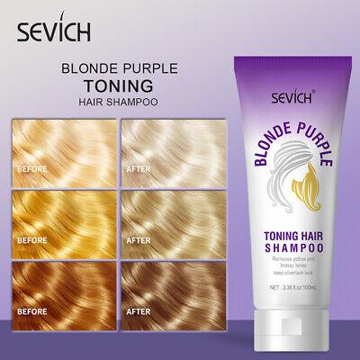 Sevich Violet Purple Toning Hair Shampoo 100ml No Yellow Shampoo Hair Care