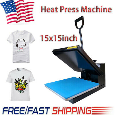 15x15 Clamshell Heat Press Machine Digital Sublimation Transfer T-shirt Clothes