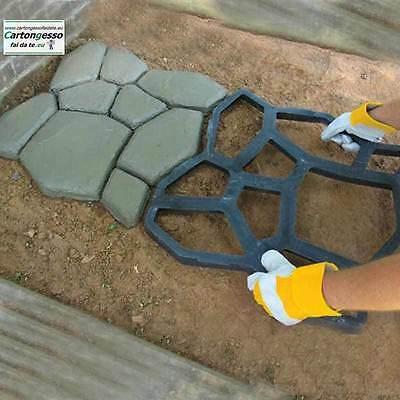 Stampo - Forma da giardino per lastricato e vialetti in cemento 60x60 h. 5.5 cm