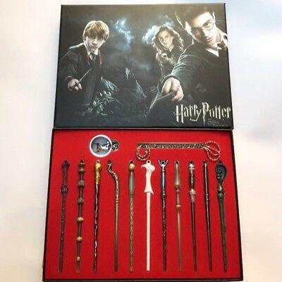 New 11 PCS Harry Potter Hermione Dumbledore Snape Magic Wands With Box