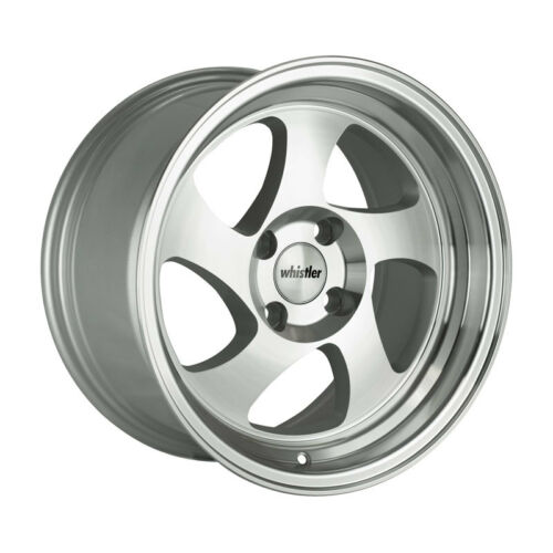 17x9 Whistler KR1 4x114.3 +25 Silver/Machined Face Wheels (Set of 4)